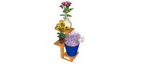盆栽摆具3d模型