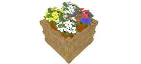盆栽植物箱3d模型