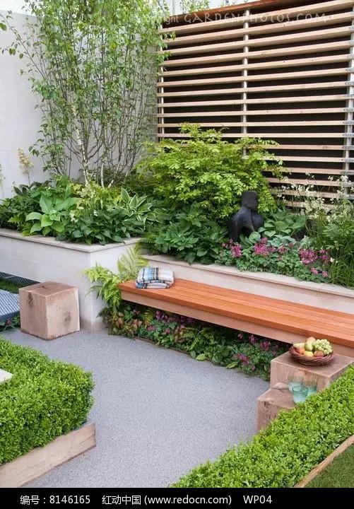 私家小庭院景观意向图图片