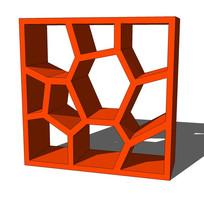 现代装饰柜书架