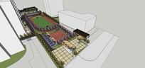 校园操场绿地景观设计