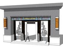 新中式建筑入口大门