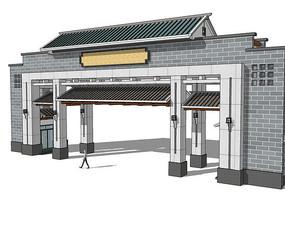 新中式小区入口大门