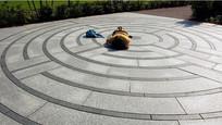 圆形小广场石材铺装 JPG