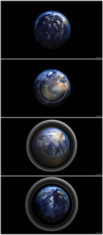 宇宙空间地球背景视频素材