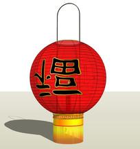 中式古典福字挂灯