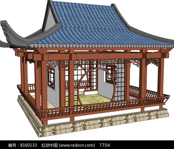 中式园林亭轩建筑