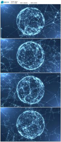 4k超高清蓝色科技地球背景视频