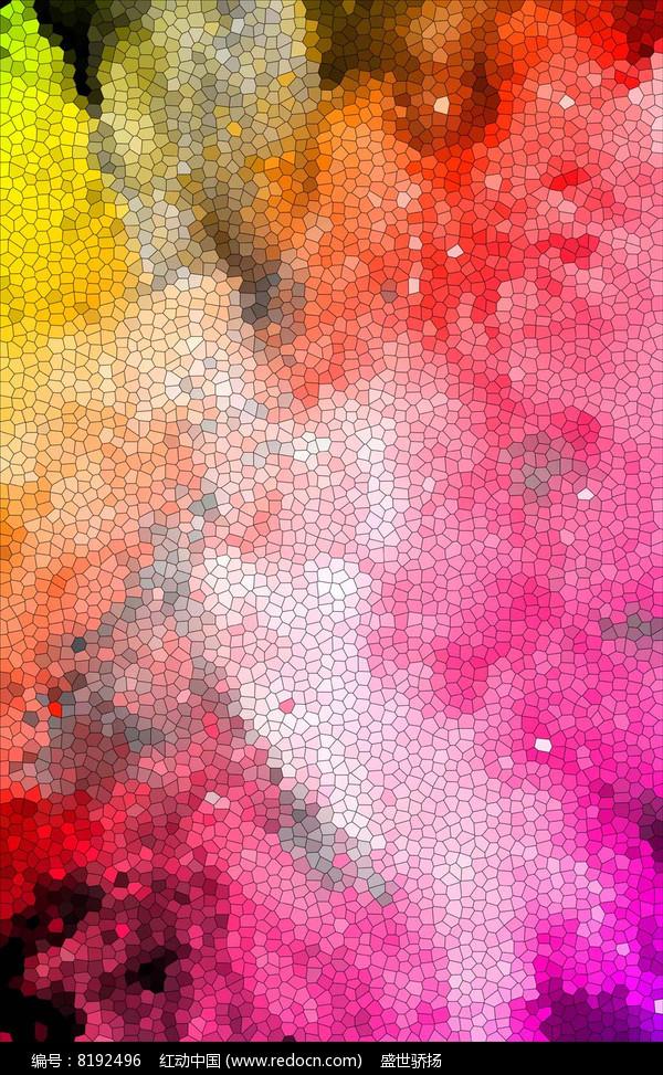 彩色砌块墙壁图片