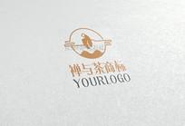 创意禅与茶logo