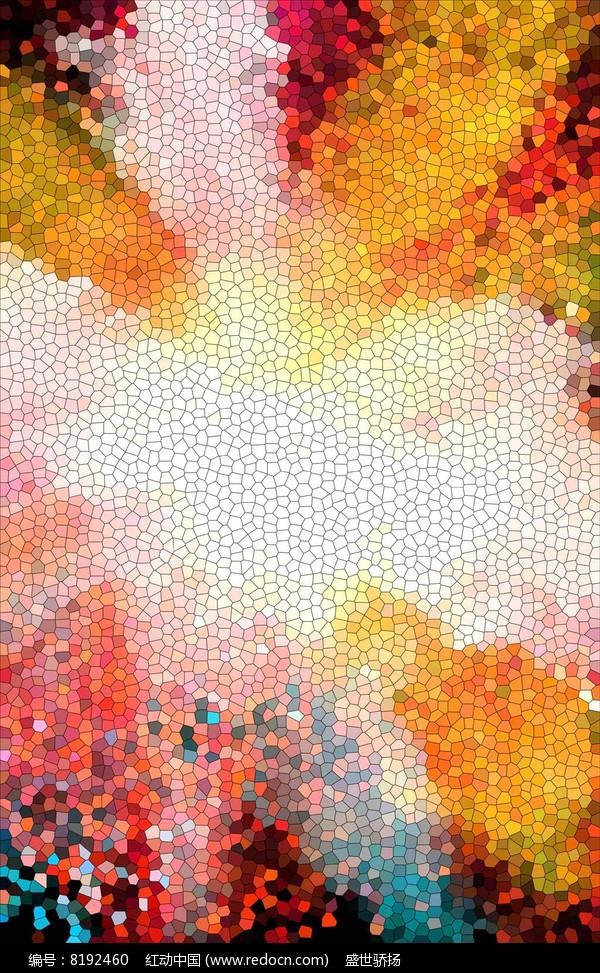 方格色彩背景图片