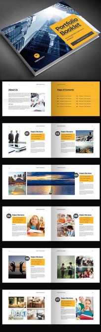 黄色横版企业画册宣传册产品画册AI模板源文件