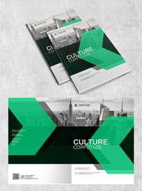 简洁绿色建筑画册封面
