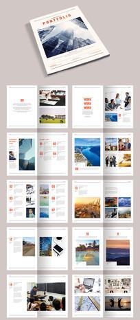 简约时尚作品集企业画册宣传册模板素材源文件