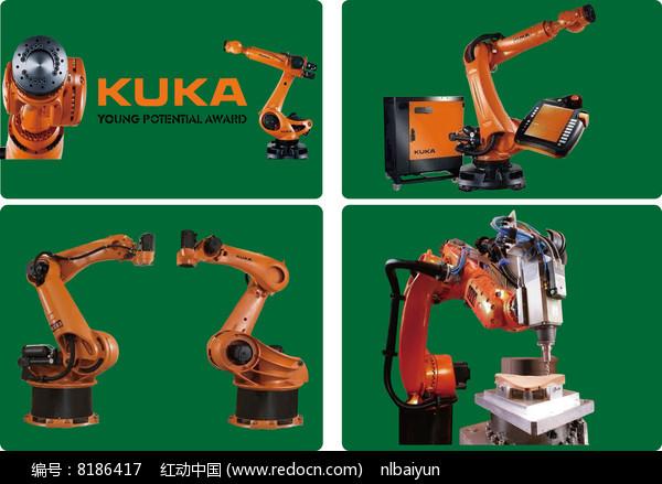 kuka工业机器人矢量图素材图片