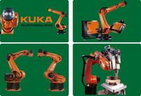 kuka工业机器人矢量图素材
