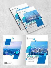 蓝色城市建筑封面