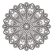 曼陀罗古典花纹矢量图片