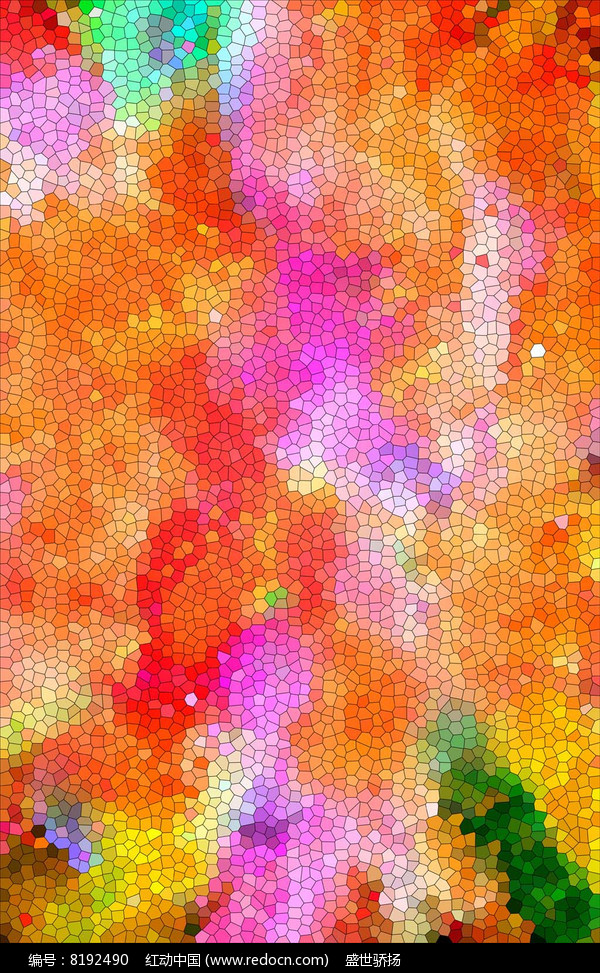 七彩水晶格背景墙图片