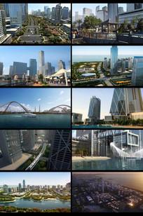 三维城市建筑漫游视频