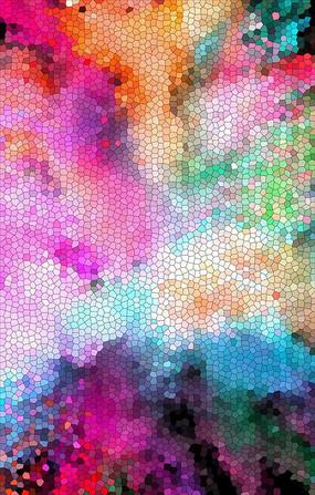 色彩烟雾装饰画