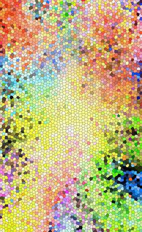 色彩艺术墙画