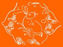 兔子雕刻图案