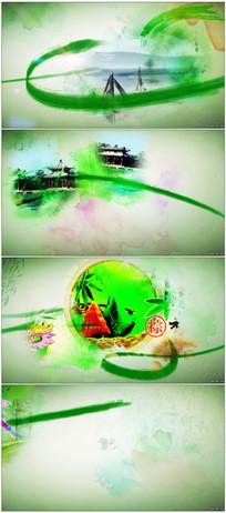 中国风水墨端午节通用片头