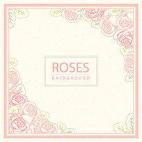 粉红色玫瑰花面膜包装袋设计
