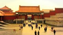 北京故宫城市移轴摄影视频素材