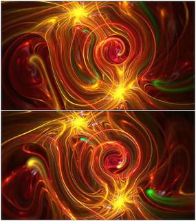 抽象背景线条分形动画视频