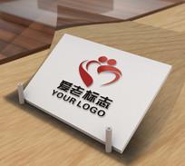 创意敬老院logo设计