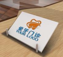 创意口腔牙医牙科标志logo设计 CDR