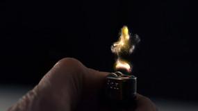 打火机点火瞬间视频素材 mpg