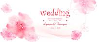浪漫婚礼背景板  PSD