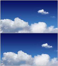 蓝天白云飘动视频
