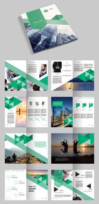 绿色创意企业文化画册宣传册产品画册模板源文件