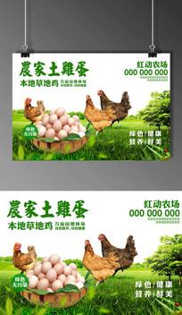 农家土鸡蛋广告海报
