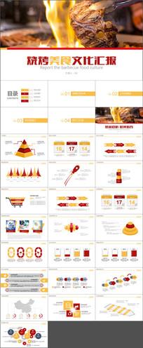 烧烤美食文化汇报PPT模板
