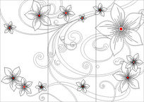 太阳花雕刻图案