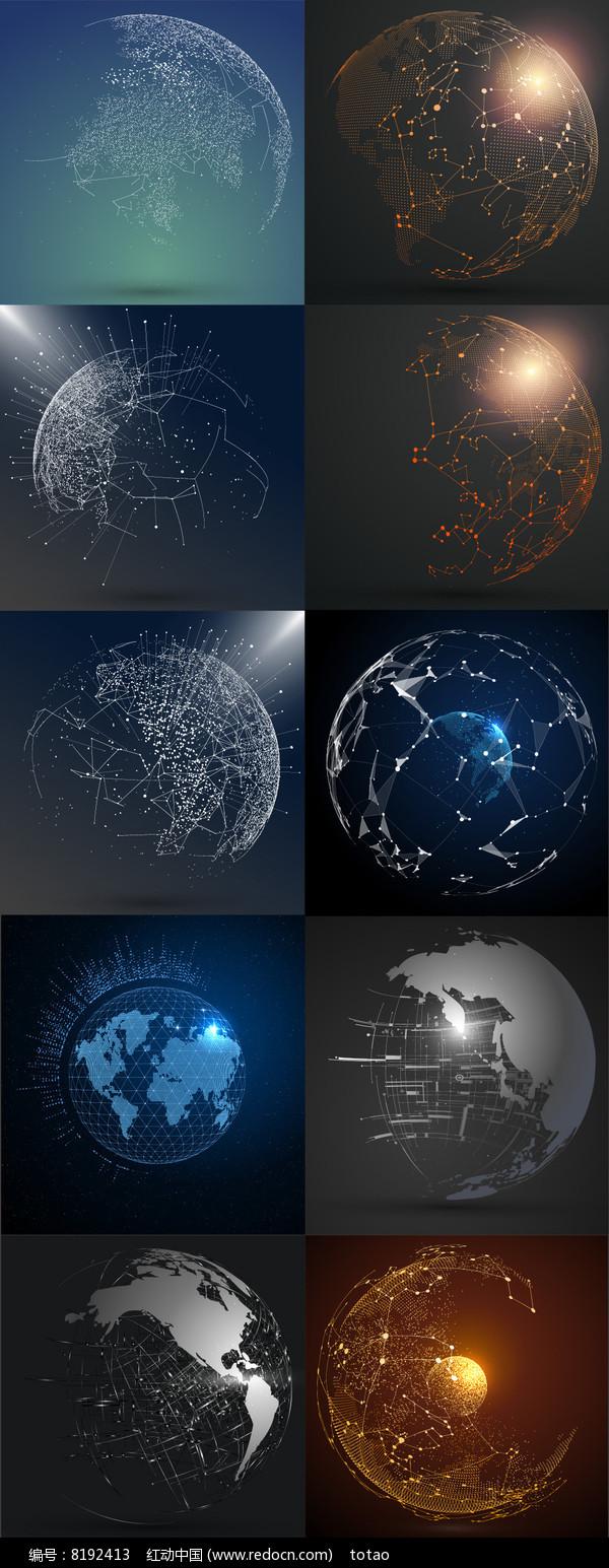 未来科技太空地球元素图片