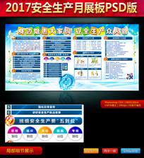 2017安全生产月展板PSD版