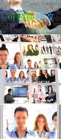 多图片组合大屏幕展示ae模板