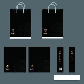 黑色手提袋VI手提袋模板