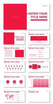 红色商务PPT模版1