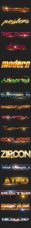 炫酷3d字体样式立体字设计 PSD