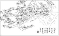 梅花树雕刻图案