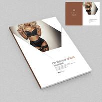 欧美女性高档内衣产品画册封面设计