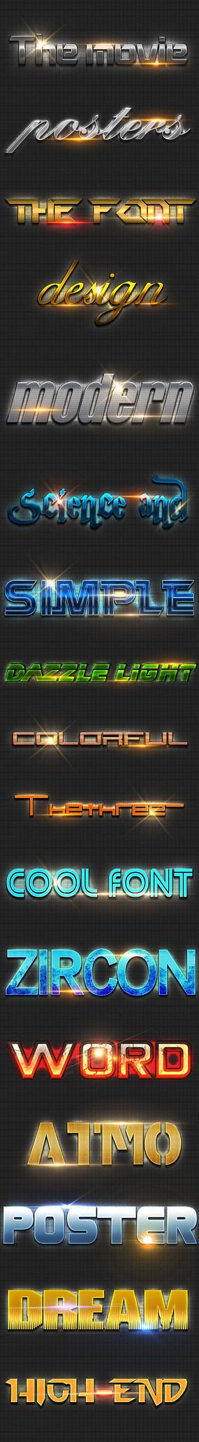 ps金属质感字体样式设计