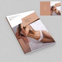 清新风格内衣宣传册封面设计
